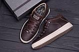 Мужские зимние кожаные ботинки ZG Chocolate Exclusive, фото 10