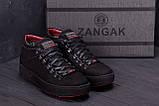 Мужские зимние кожаные ботинки ZG Black Exclusive, фото 9