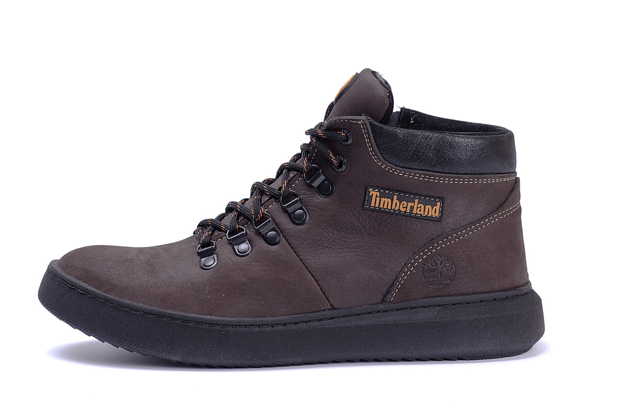 Мужские зимние кожаные ботинки Timderlend Zaragoza Brown .