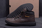 Мужские зимние кожаные ботинки Timderlend Zaragoza Brown ., фото 9