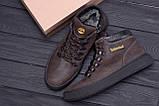 Мужские зимние кожаные ботинки Timderlend Zaragoza Brown ., фото 10
