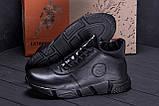 Мужские зимние кожаные кроссовки ASL  Black New Line, фото 7