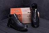 Мужские зимние кожаные кроссовки ASL  Black New Line, фото 9