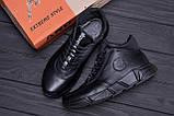 Мужские зимние кожаные кроссовки ASL  Black New Line, фото 10