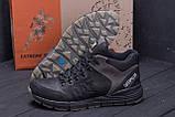 Мужские зимние кожаные ботинки CATERPILLAR Black  ., фото 9