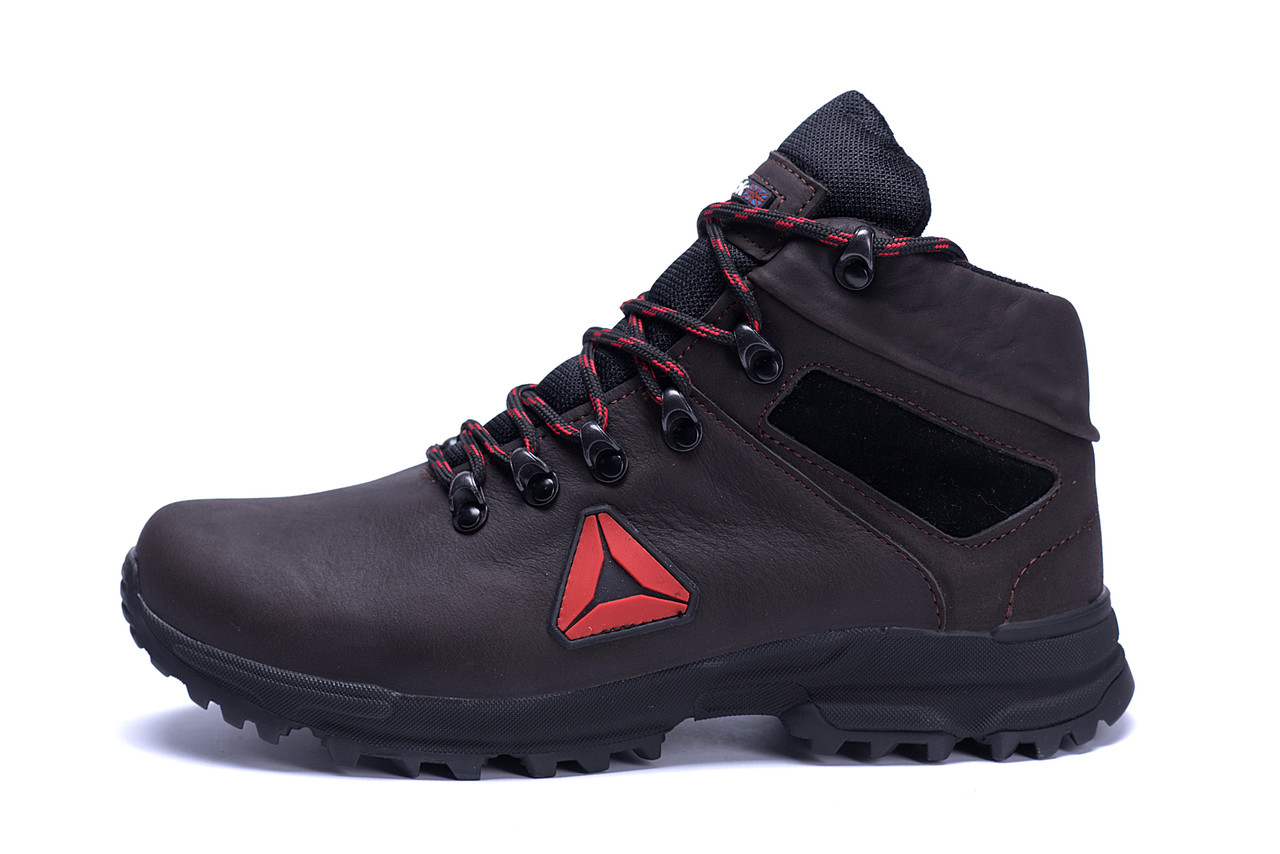 Мужские зимние кожаные ботинки Reebok Brown .