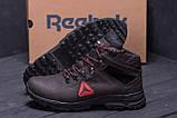 Мужские зимние кожаные ботинки Reebok Brown ., фото 7