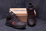 Мужские зимние кожаные ботинки Reebok Brown ., фото 8