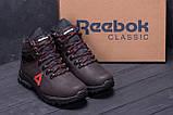 Мужские зимние кожаные ботинки Reebok Brown ., фото 9