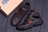 Мужские зимние кожаные ботинки Reebok Brown ., фото 10