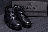 Мужские зимние кожаные ботинки KungFu  Winter  Black, фото 9