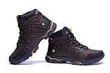 Мужские зимние кожаные ботинки Columbia Chocolate  ., фото 3