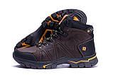Мужские зимние кожаные ботинки Columbia Chocolate  ., фото 4