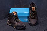 Мужские зимние кожаные ботинки Columbia Chocolate  ., фото 8