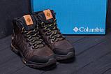 Мужские зимние кожаные ботинки Columbia Chocolate  ., фото 9