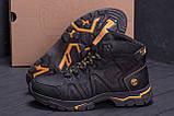 Мужские зимние кожаные ботинки Timderland  Black  ., фото 7