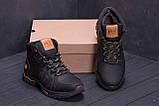 Мужские зимние кожаные ботинки Timderland  Black  ., фото 8