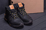 Мужские зимние кожаные ботинки Timderland  Black  ., фото 9