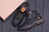 Мужские зимние кожаные ботинки Timderland  Black  ., фото 10
