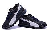 Мужские зимние кожаные кроссовки Puma BMW MotorSport Blue Pearl ., фото 5