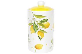 Банку керамічна 1л Соковиті лимони BonaDi DM111-Y