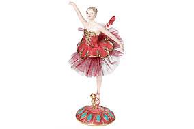 Декоратвиная статуетка Балерина, 24см, колір - бордо з рожевим і бірюзою BonaDi 838-271