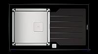 Кухонная мойка Тека DIAMOND 1B 1D 86 черная 86*51