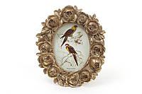 Рамка для фото овальная 11*13см Розы, цвет - состаренное золото BonaDi 450-130