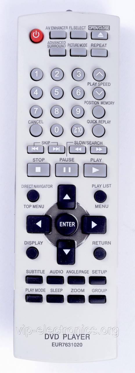 Пульт Panasonic  EUR7631020 (DVD) як оригінал