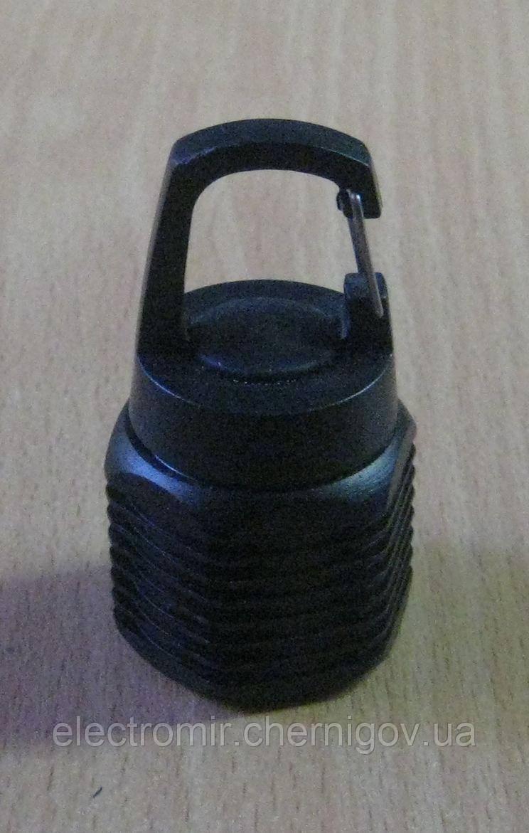 Фонарик маленький WD-309 на брелок с карабином (черный)