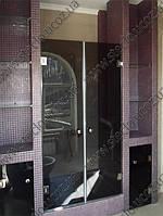 Стеклянные душевые двери из тонированного (коричневое, серое) стекла