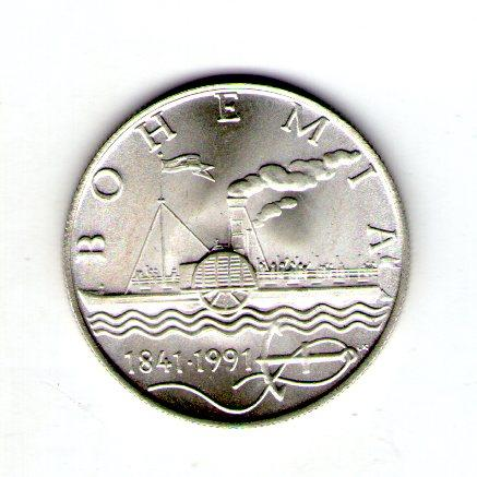 Чехословакия 50 крон 1991 год серебро