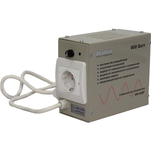 Стабилизатор напряжения Phantom VN-600F (0,6 кВт)