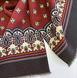 Джаз 1917-16, павлопосадский шарф (кашне) шерстяной  двусторонний мужской с осыпкой, фото 7
