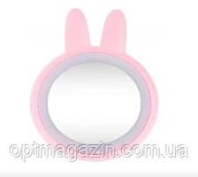 Зеркало дорожное для макияжа со светодиодной подсветкой Rabbit Makeup Mirror, фото 2