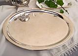 Посеребренный овальный поднос, серебрение, мельхиор, Англия, винтаж, фото 2