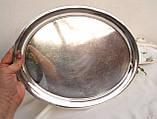 Посеребренный овальный поднос, серебрение, мельхиор, Англия, винтаж, фото 4