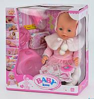 Пупс интерактивный кукла 38 см 8 функций аксессуары Baby Love BL 010 A