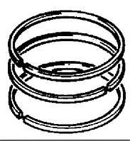 Комплект поршневых колец (2 рем. размер) U4181A047, Запчасти Перкинс, Запчасти Perkins, ремонт Перкинс, двигатели Perkins