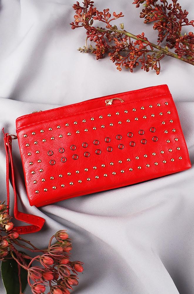Клатч женский красный 241-1