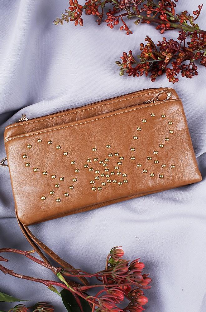 Клатч женский светло-коричневый 240-1