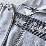 Теплый костюм с начесом  на девочку 416. Размер 110 см, 116 см, 122 см, 128 см, фото 2