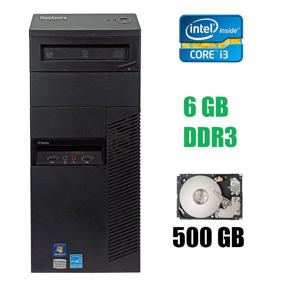 Lenovo Think Centre M90 Tower / Intel Core i3-540 (2(4) ядра по 3.06 GHz) / 6 GB DDR3 / 500 GB HDD