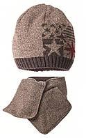 Комплект (шапка, шарф) AMERIKANO_BR (048)