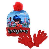 Шапка + перчатки на девочку Miraculous Ladybug (Леди Баг и Супер-Кот)