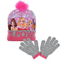 Шапка + перчатки на девочку Princess (Принцессы Диснея)