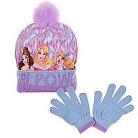 Шапка + перчатки на девочку Princess (Принцессы Диснея) 050-052