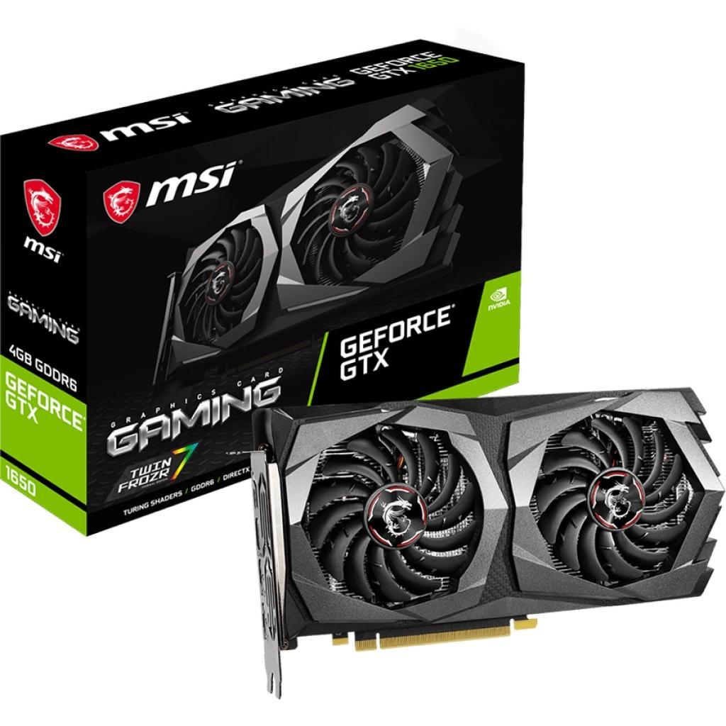 Видеокарта MSI GeForce GTX1650 4096Mb D6 GAMING (GTX 1650 D6 GAMING)
