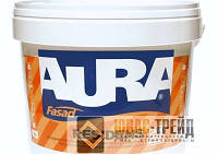 ТМ AURA Fasad RESIDENS - краска для фасадов, модифицированная силоксаном (ТМ Аура Фасад Резиденс), 9л.