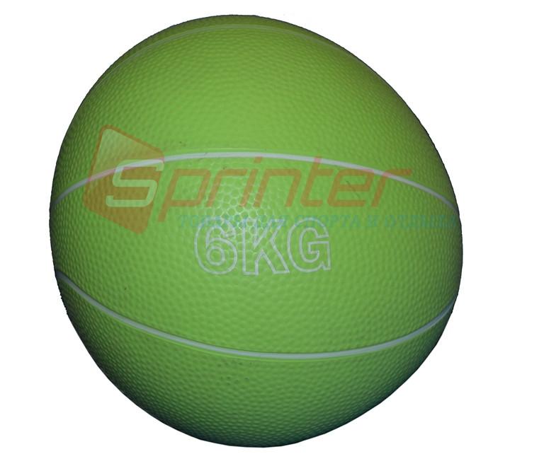 Мяч для атлетических упражнений (6 кг, 20 см) резина
